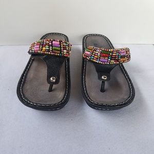 Algeria Beaded Platform Sandals size 5